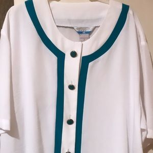 Tops - White button down blouse. Never worn.